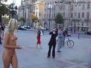 Sabrina public nude in Frankfurt Germany