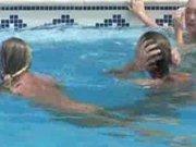 Lesbians pool party