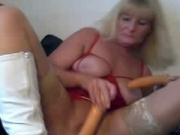 German mature blond didlo fun