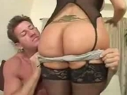 Dirty milf gagging for it