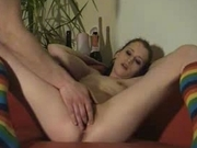 Amateur masturbation and gets fingering