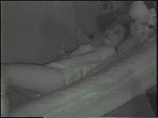 Spying my girlfriend masturbating. Through window