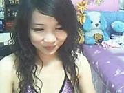 Asian girl masterbates on webcam