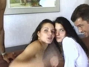 Hungarian Brunette Twin Sisters Fucked Hardcore