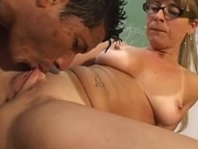 Monster brazilian cock fucks his mature teacher