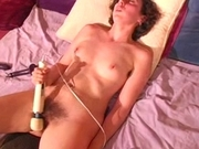 Hairy babe explosive squirt orgasms