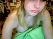 Perfect blonde emo teen on cam
