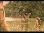 Sensual Black & White Lesbians by the Riverside - Ameman
