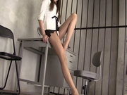 Nylon beauty leg nylon doll