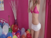 Naughty blonde teen wants to party right now