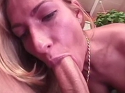 Blonde chick gets her ass spread by big cock