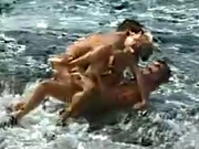Hardcore Fucking In Beach Two Guys With Girl