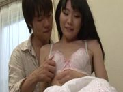 Sexy teen Sayaka Otonashi cock sucking and doggystyle