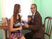 Teen Strumpet Doing The Nasty With Her Teacher.