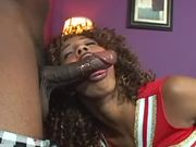 Misty Stone the curly ebony chick gets her pussy fucked hard