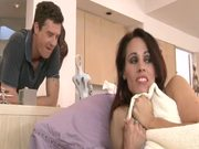 Lewd milf Crystal D has anal sex with an insatiable guy in the living room
