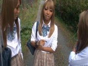 Three slutty Japanese college girls suck like crazy