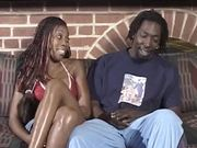 Rowdy ebony babe loves it deep anal and moans hard