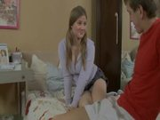Madlena the cute teen with pigtails gets fucked and facialed
