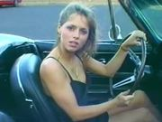 Sizzling hottie drives a nice car and sucks a hard cock