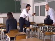 Mikan Kururugi the Japanese schoolgirl gets fucked in the classroom