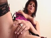 Hot milf Olivia sucks a cock and gets her pussy hotly pounded