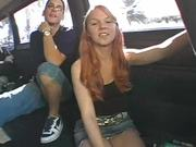 Ginger Beauty Takes it Hard In the Bang Bus