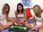 Three naughty babes get lesbian in bed and love it