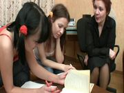 Hot teens Maria and Linda are getting some special task