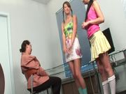 Hot teens Tanya and Anna lick and finger each others pussies