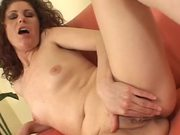 Lovely hotties Elisa and Luly are giving him a double blowjob