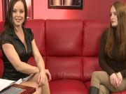 Slender brown haired hotties does her best to win the casting
