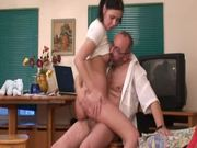 Slutty Kristina loves to fuck with her teachers after school
