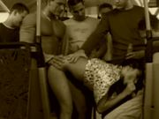 Babe Gets Fucked On A Bus By A Crowd Of Men.