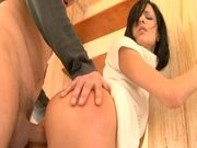 Cock Hungry Brunette Doggystyle and Outdoor Sex