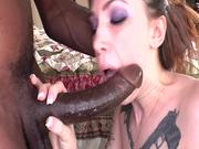 Monster Cock Action For One Sexy Inked Redhead