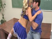 Fucking Blonde Cheerleader Briana Blair in Classroom