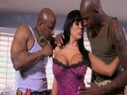 Amazing Sienna West Takes On Two Black Cocks