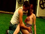 A Country Garden Fuck For Teeny Couple