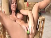 Serious Masturbation Insertion With a Big Cucumber