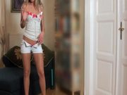 Gorgeous Blonde Teen Amanda Blake Pleasing Herself with Fingers and Toys