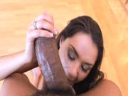 Sexy Brunette Charley Chase Gives a Big Black Cock a Great POV Blowjob