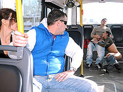 Hot Argentinian Shemale Sucks Cock on a Bus
