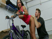 Hot biker girl Mariah Milano likes speed