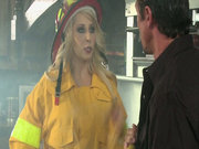 Hot firefighter Madison Ivy punishes dude for the false call