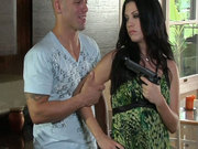 Jealous bitch Roxy DeVille wanted to kills her bf for cheating but fucks him instead