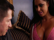 Brunette brickhouse Kerry Louise gets her throat brutally fucked