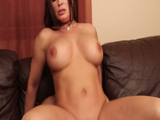Beautiful and busty milf Diamond Foxxx rides young dude's rod