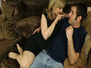 Horny milf Nina Hartley wins a strong fresh cock