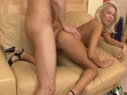 SLutty blond head will please you at once!